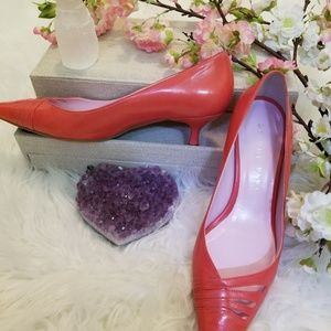 Gianni Binni Leather Pointed Toe Kitten Heal Shoes